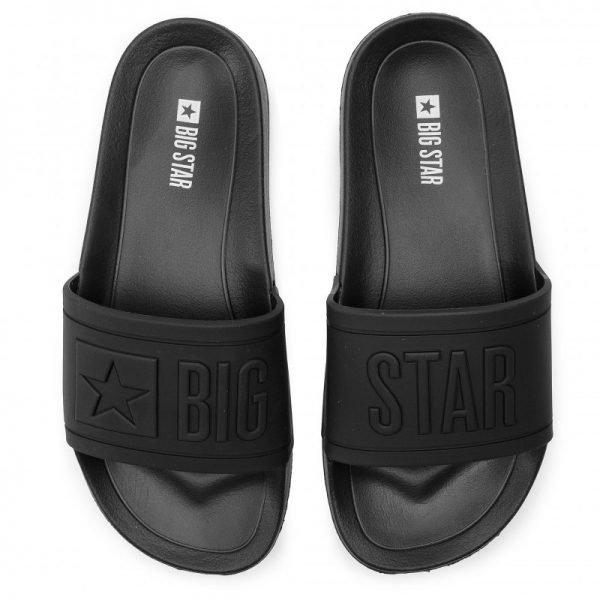 """Juodos spalvos šlepetės moterims """"BIG STAR"""""""