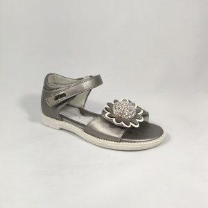 Blizgios sidabrinės mergaitiškos basutės