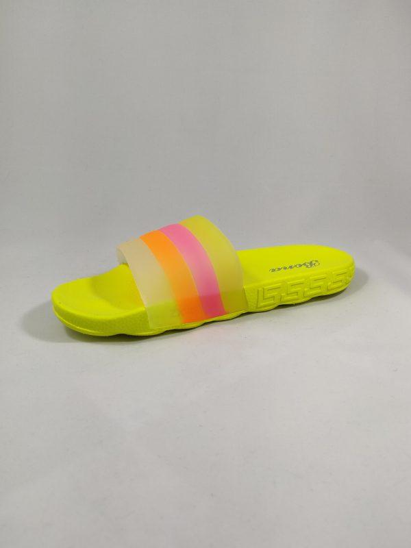 geltonos guminės šlepetės