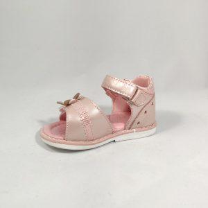 Rožinės odinės basutės mergaitėms