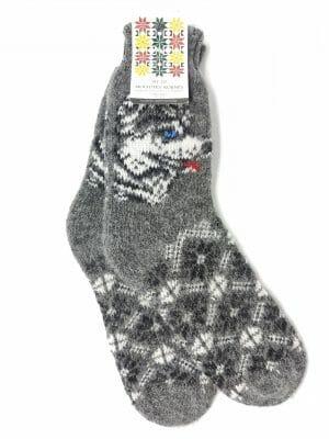vilnonės kojinės su vilku