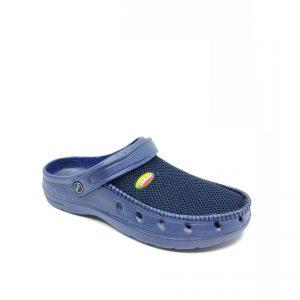 Mėlynos spalvos guminės šlepetės