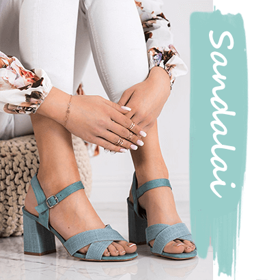 Moteriška avalynė, basutės ir sandalai